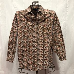 Patagonia Floral Long Sleeve Button Up Shirt M